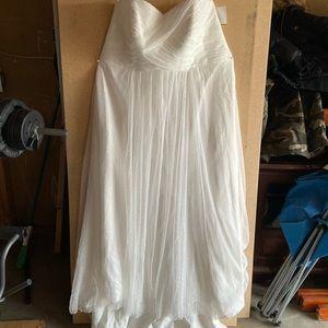 Dot Tulle Wedding Dress